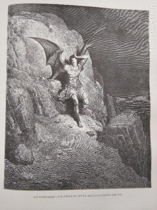ANTIGUO GRABADO RELIGIOSO, ANGEL ARCANGEL DEMONIO DIABLO ADAN EVA SATAN ANGEL ANGELES INFIERNO (Arte - Arte Religioso - Grabados)