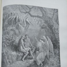 Arte: ANTIGUO GRABADO RELIGIOSO, ANGEL ARCANGEL DEMONIO DIABLO ADAN EVA SATAN ANGEL ANGELES INFIERNO . Lote 79866773
