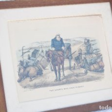 Arte: ANTIGUA LITOGRAFÍA DE CURRIER & IVES - 1881 - THE SPORTS WHO CAME TO GRIEF. Lote 79867209