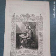 Arte: REF: KK - AÑO 1861 ORIGINAL GRABADO DE LA EPOCA RELIGIOSO - SAN GREGORIO III PAPA Y CONFESOR. Lote 79920077