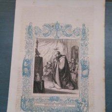 Arte: REF: KK - AÑO 1861 ORIGINAL GRABADO DE LA EPOCA RELIGIOSO - SAN CEFERINO , PAPA Y MARTIR. Lote 79920725
