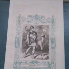 Arte: REF: KK - AÑO 1861 ORIGINAL GRABADO DE LA EPOCA RELIGIOSO - SAN EUSTAQUIO MARTIR. Lote 79921317