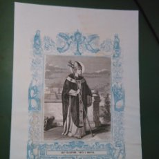 Arte: REF: KK - AÑO 1861 ORIGINAL GRABADO DE LA EPOCA RELIGIOSO - SAN TELESFORO PAPA Y MARTIR. Lote 79926905