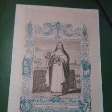 Arte: REF: KK - AÑO 1861 ORIGINAL GRABADO DE LA EPOCA RELIGIOSO - SANTA MARIA DE SOCORS , VIRGEN . Lote 79928765