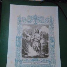 Arte: REF: KK - AÑO 1861 ORIGINAL GRABADO DE LA EPOCA RELIGIOSO - SAN NEMESIO MARTIR. Lote 79930705