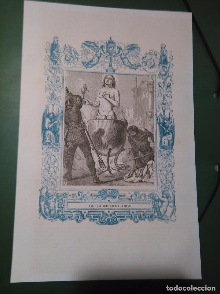 REF: KK - AÑO 1861 ORIGINAL GRABADO DE LA EPOCA RELIGIOSO - SAN VICENTE , SABINA Y CRISTETA MARTIRES (Arte - Arte Religioso - Grabados)