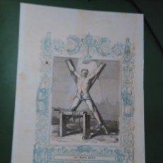 Arte: REF: KK - AÑO 1861 ORIGINAL GRABADO DE LA EPOCA RELIGIOSO - SAN SERAPIO MARTIR. Lote 79932437