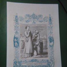 Arte: REF: KK - AÑO 1861 ORIGINAL GRABADO DE LA EPOCA RELIGIOSO - SANTA BASILISA Y ANASTASIA MARTIRES. Lote 79933069