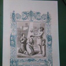 Arte: REF: KK - AÑO 1861 ORIGINAL GRABADO DE LA EPOCA RELIGIOSO - SANTAS SANTA AMALIA Y RUFINA HERMANAS . Lote 79933633