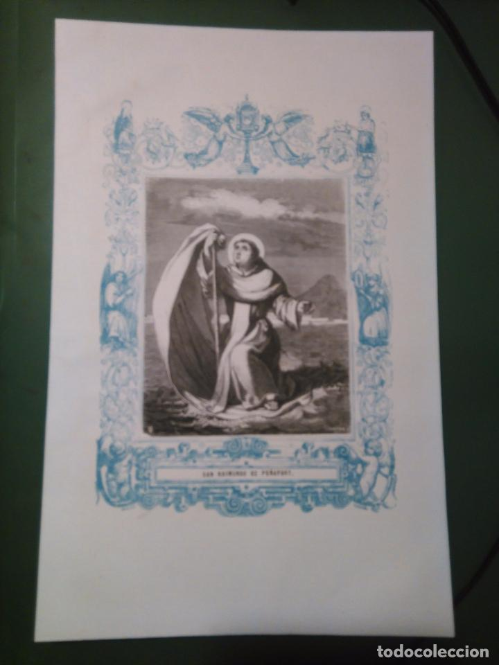 REF: KK - AÑO 1861 ORIGINAL GRABADO DE LA EPOCA RELIGIOSO - SAN RAIMUNDO YD PEÑAFORT (Arte - Arte Religioso - Grabados)