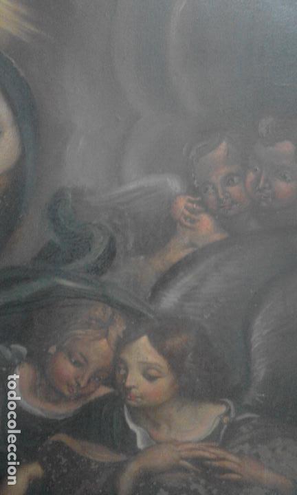 Arte: INMACULADA. OLEO SOBRE COBRE 57X43,8. ESCUELA ITALIANA SIGLO XVII - Foto 7 - 70104361