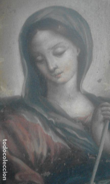 Arte: INMACULADA. OLEO SOBRE COBRE 57X43,8. ESCUELA ITALIANA SIGLO XVII - Foto 8 - 70104361