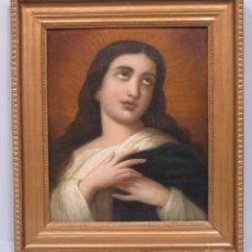 Arte: ANTIGUO Y PRECIOSA INMACULADA. OLEO S/ LIENZO. FINALES SIGLO XVIII. Lote 80097625