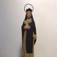 Arte: SANTA TERESA DE JESUS DE TERRACOTA ANTIGUA.. Lote 80177845
