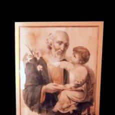 Arte: MARAVILLOSO Y ANTIGUO SAN JOSÉ CON EL NIÑO JESÚS.. Lote 27505442