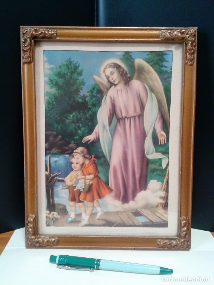 litografía religiosa con marco (ángel de la gua - Comprar ...