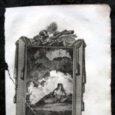 Arte: SANTA ROSALIA - VIRGEN - 11,5X18,5 CM - GRABADO DEL S.XIX. Lote 80296937