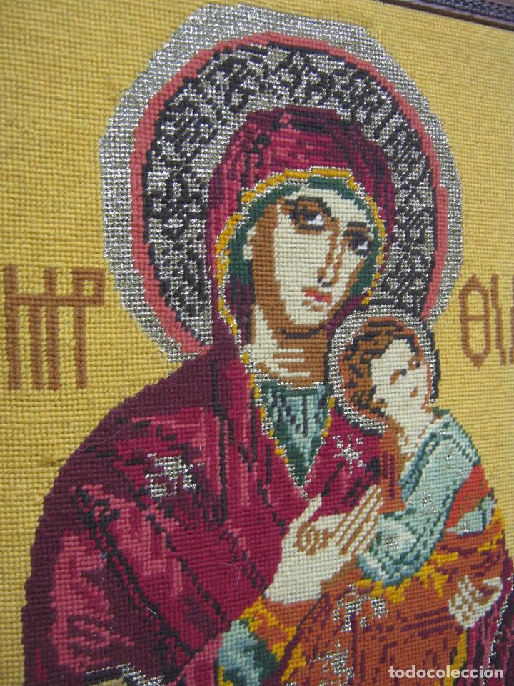 Arte: Espectacular icono en punto de cruz - Virgen del Perpetuo Socorro - bello marco - Foto 2 - 80303825