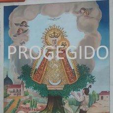 Arte: ANTIGUO CARTEL DE LA PRODIGIOSA IMAGEN DE MARIA SANTISIMA DE CORTES PATRONA DE ALCARAZ ALBACETE. Lote 80317225