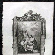 Arte: LA NATIVIDAD DE LA SANTISIMA VIRGEN - 18X11,5CM - GRABADO SIGLO XIX. Lote 80349245