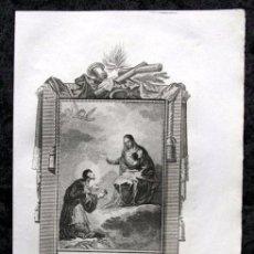 Arte: SAN NICOLAS DE TOLENTINO - GRABADO SIGLO XIX - 18X11,5CM. Lote 80349933