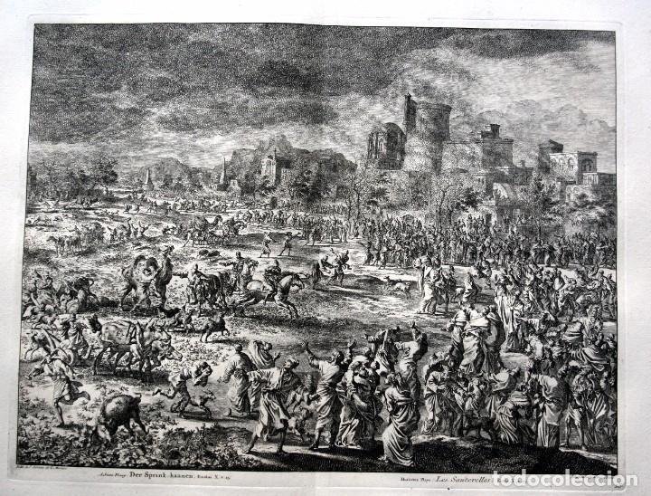 1729 - BIBLIA - 8ª PLAGA DE EGIPTO - LAS LANGOSTAS - LUYKEN - ENGRAVING - GRAVURE (Arte - Arte Religioso - Grabados)