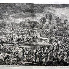 Arte: 1729 - BIBLIA - 8ª PLAGA DE EGIPTO - LAS LANGOSTAS - LUYKEN - ENGRAVING - GRAVURE. Lote 80629622