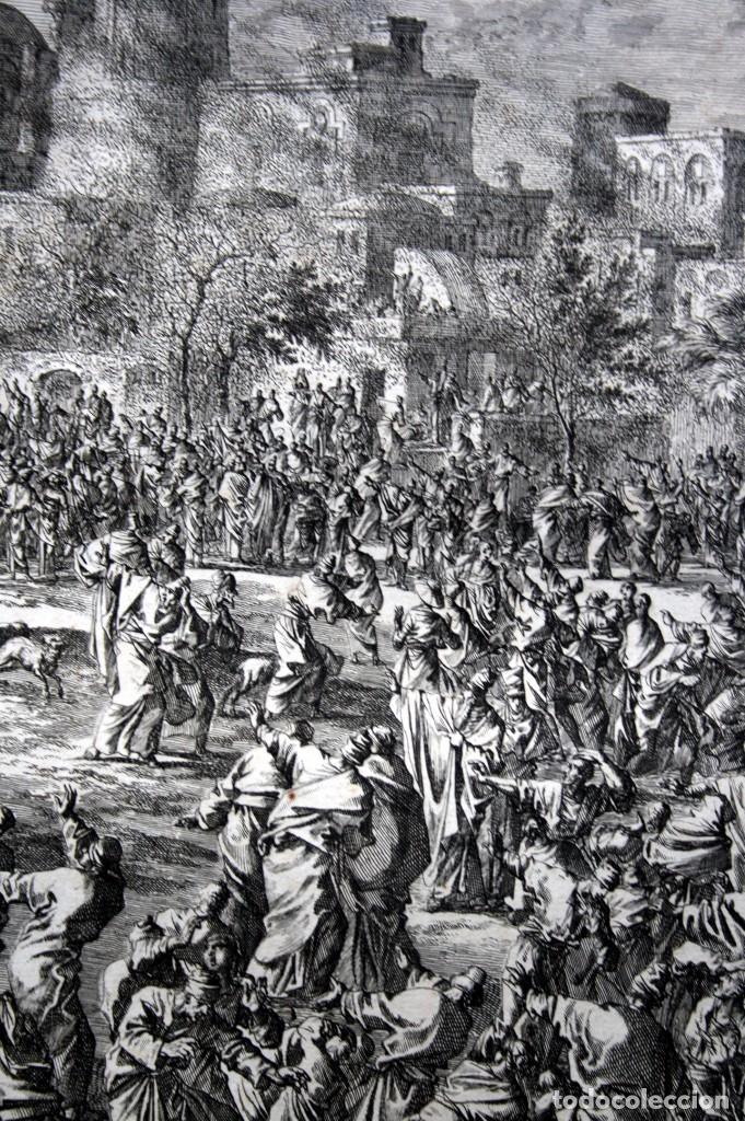 Arte: 1729 - BIBLIA - 8ª PLAGA DE EGIPTO - LAS LANGOSTAS - LUYKEN - ENGRAVING - GRAVURE - Foto 4 - 80629622