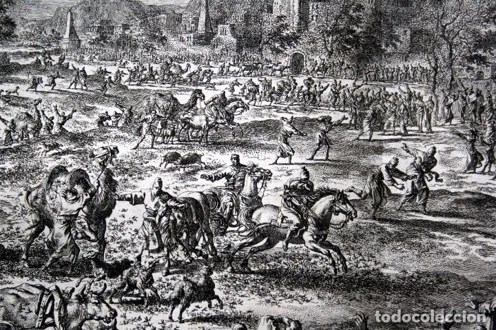 Arte: 1729 - BIBLIA - 8ª PLAGA DE EGIPTO - LAS LANGOSTAS - LUYKEN - ENGRAVING - GRAVURE - Foto 7 - 80629622