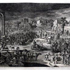 Arte: 1729 - BIBLIA - 9ª PLAGA DE EGIPTO - TINIEBLAS Y OSCURIDAD - LUYKEN - ENGRAVING - GRAVURE. Lote 80630266