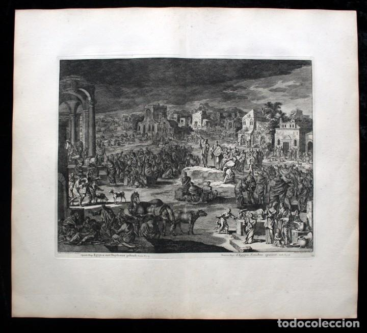 Arte: 1729 - BIBLIA - 9ª PLAGA DE EGIPTO - TINIEBLAS Y OSCURIDAD - LUYKEN - ENGRAVING - GRAVURE - Foto 2 - 80630266