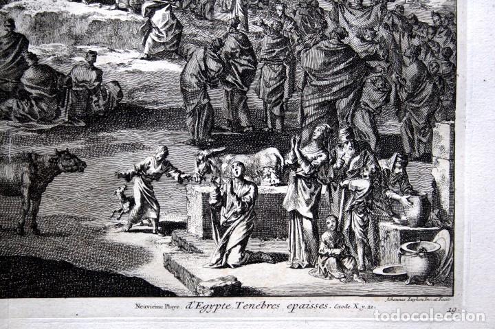 Arte: 1729 - BIBLIA - 9ª PLAGA DE EGIPTO - TINIEBLAS Y OSCURIDAD - LUYKEN - ENGRAVING - GRAVURE - Foto 4 - 80630266