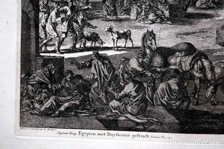 Arte: 1729 - BIBLIA - 9ª PLAGA DE EGIPTO - TINIEBLAS Y OSCURIDAD - LUYKEN - ENGRAVING - GRAVURE - Foto 5 - 80630266