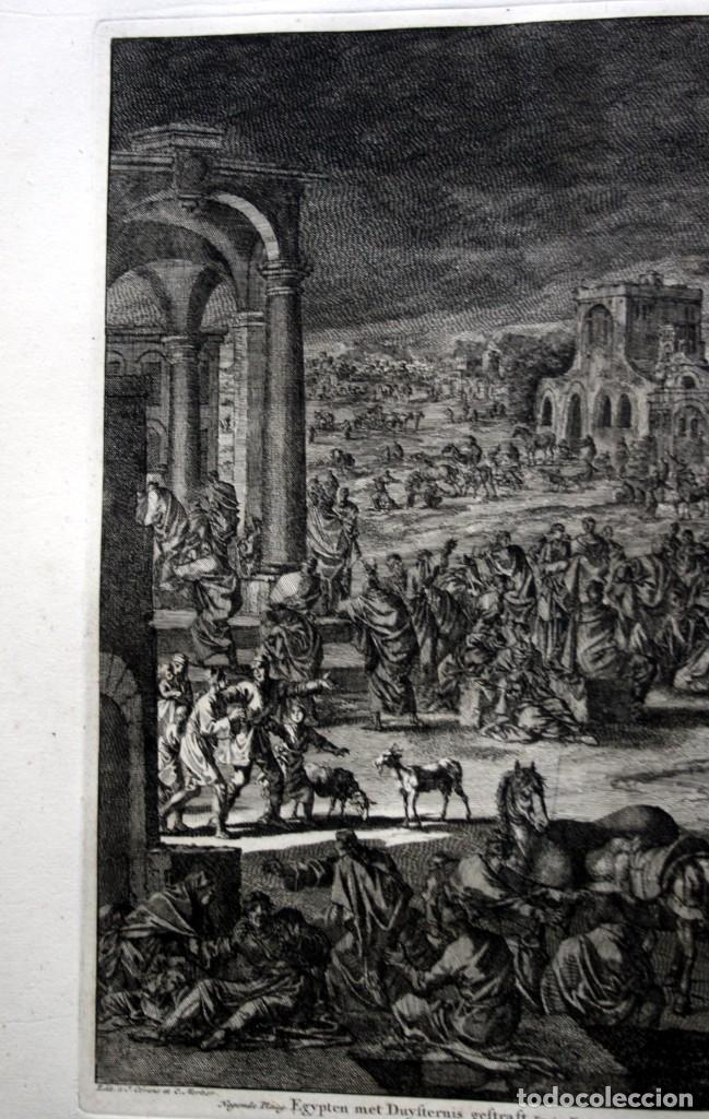 Arte: 1729 - BIBLIA - 9ª PLAGA DE EGIPTO - TINIEBLAS Y OSCURIDAD - LUYKEN - ENGRAVING - GRAVURE - Foto 6 - 80630266