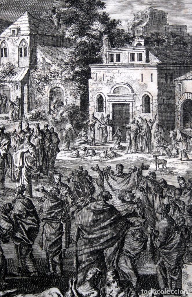 Arte: 1729 - BIBLIA - 9ª PLAGA DE EGIPTO - TINIEBLAS Y OSCURIDAD - LUYKEN - ENGRAVING - GRAVURE - Foto 7 - 80630266
