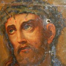 Arte: (M) ANTIGUA PINTURA RELIGIOSA COLONIAL SOBRE TELA ADHERIDA A UNA MADERA DE CEDRO . S. XVIII.. Lote 80855015