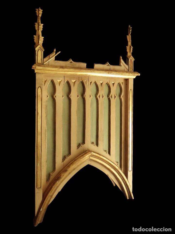 Arte: Soberbio retablo neogótico, S. XIX. - Foto 2 - 52594410
