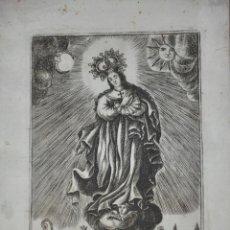 Arte: GRABADO RELIGIOSO , VIRGEN . S. XVIII. Lote 81028868