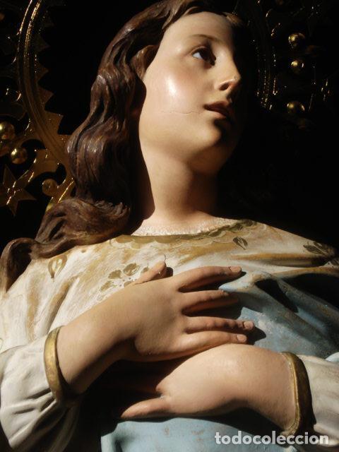 Arte: VIRGEN INMACULADA RESPLANDECIENTE Y EXPRESIVA INMACULADA DE EL ARTE CRISTIANO PASTA DE MADERA - Foto 5 - 81156528