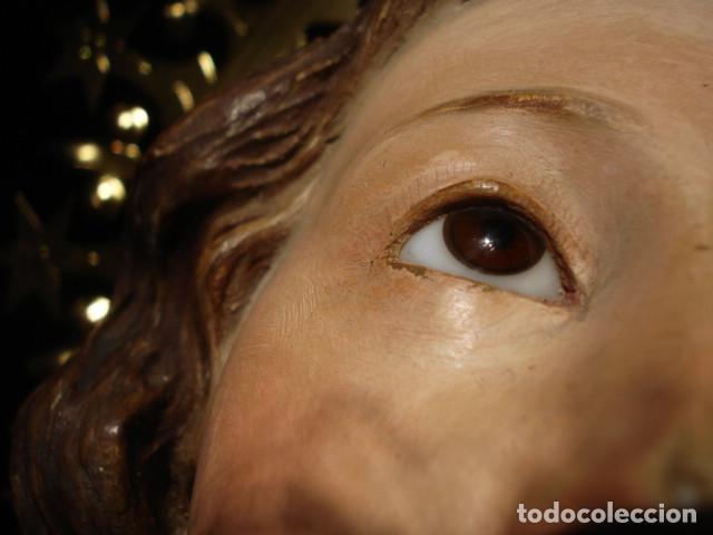 Arte: VIRGEN INMACULADA RESPLANDECIENTE Y EXPRESIVA INMACULADA DE EL ARTE CRISTIANO PASTA DE MADERA - Foto 15 - 81156528