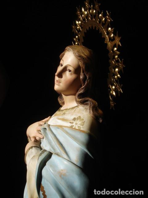 Arte: VIRGEN INMACULADA RESPLANDECIENTE Y EXPRESIVA INMACULADA DE EL ARTE CRISTIANO PASTA DE MADERA - Foto 26 - 81156528