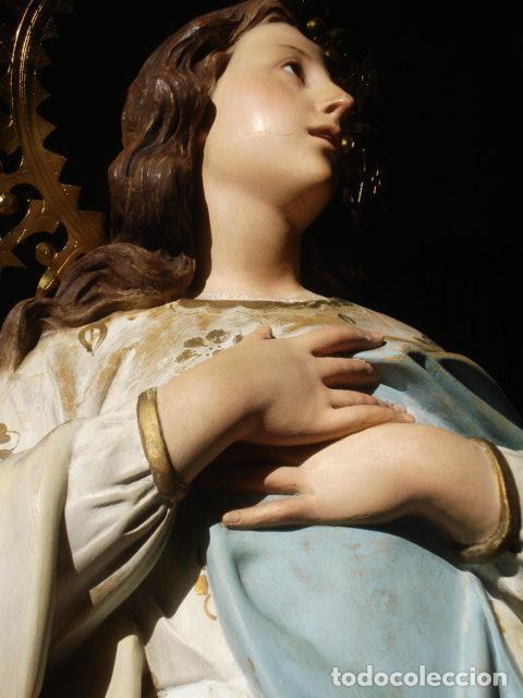 Arte: VIRGEN INMACULADA RESPLANDECIENTE Y EXPRESIVA INMACULADA DE EL ARTE CRISTIANO PASTA DE MADERA - Foto 30 - 81156528