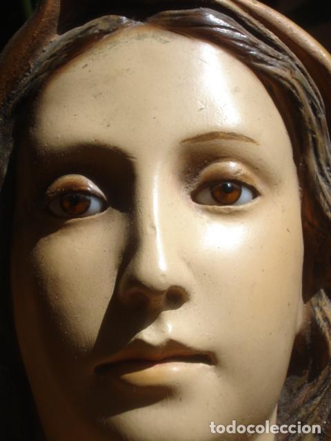 INMACULADA CONCEPCION ESTUCO DE OLOT CON ANAGRAMA (Arte - Arte Religioso - Escultura)