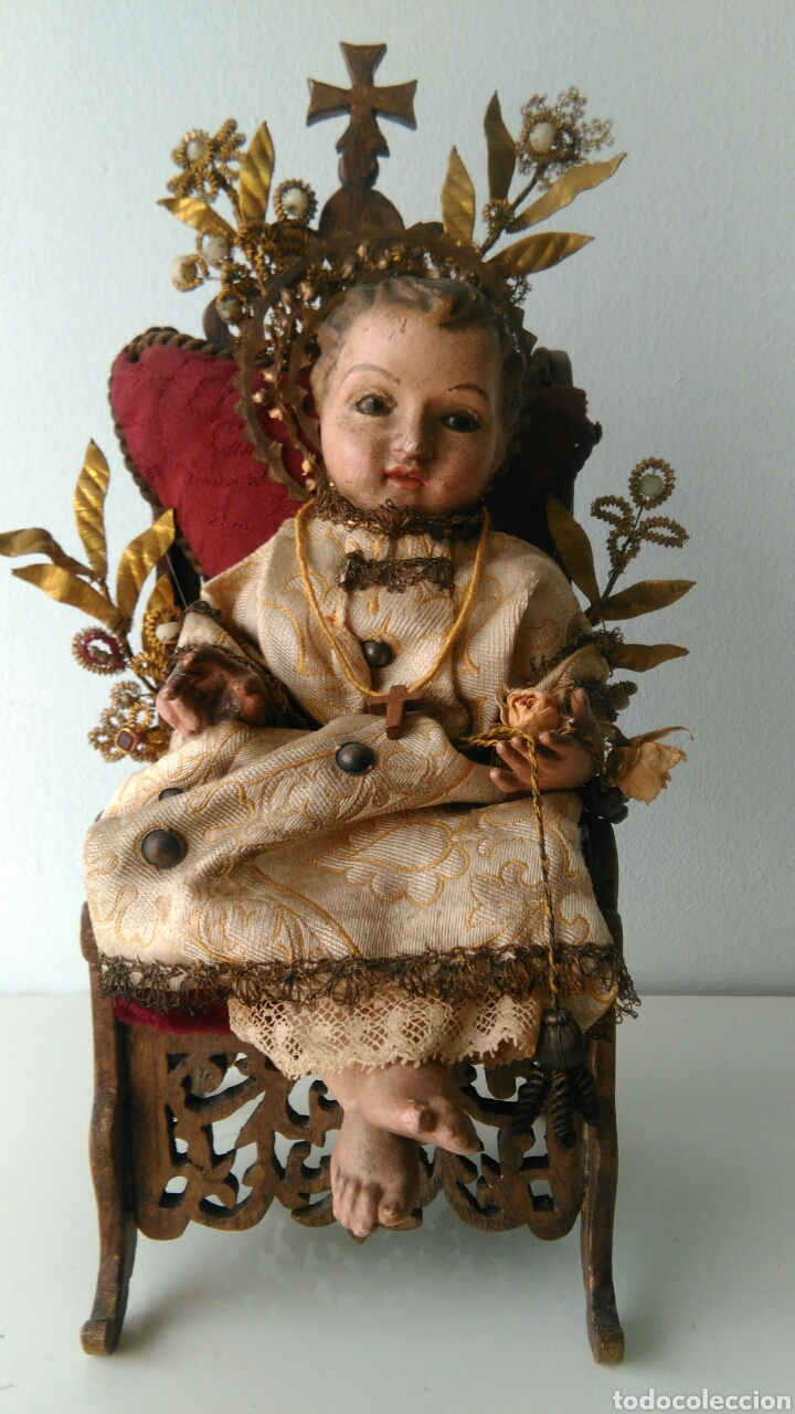 NIÑO JESUS TALLA DE MADERA (Arte - Arte Religioso - Escultura)