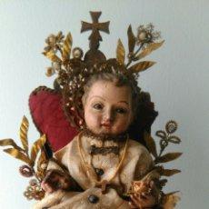 Arte: NIÑO JESUS TALLA DE MADERA. Lote 81344975