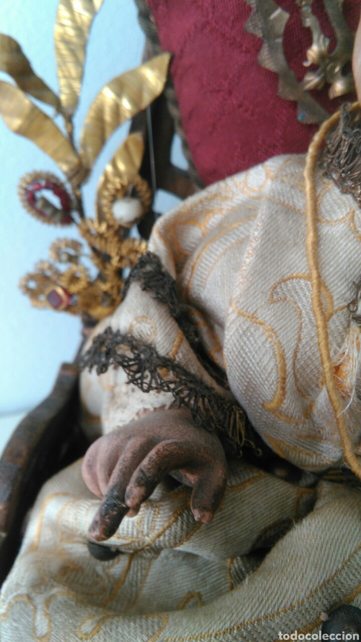 Arte: NIÑO JESUS TALLA DE MADERA - Foto 7 - 81344975