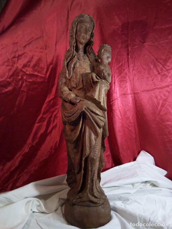 ESCULTURA, VIRGEN CON NIÑO , TALLA DE MADERA (Arte - Arte Religioso - Escultura)