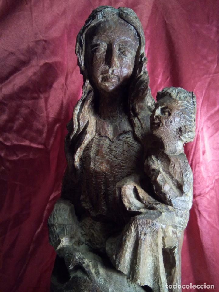 Arte: Escultura, virgen con niño , talla de madera - Foto 2 - 81580772