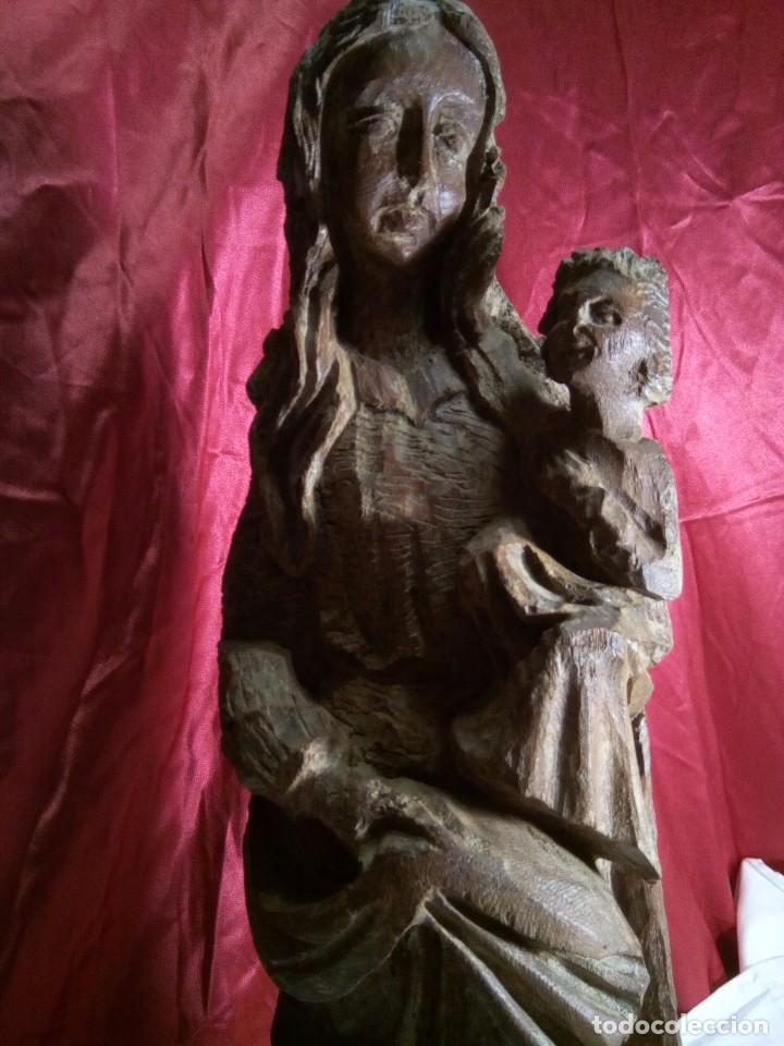 Arte: Escultura, virgen con niño , talla de madera - Foto 3 - 81580772