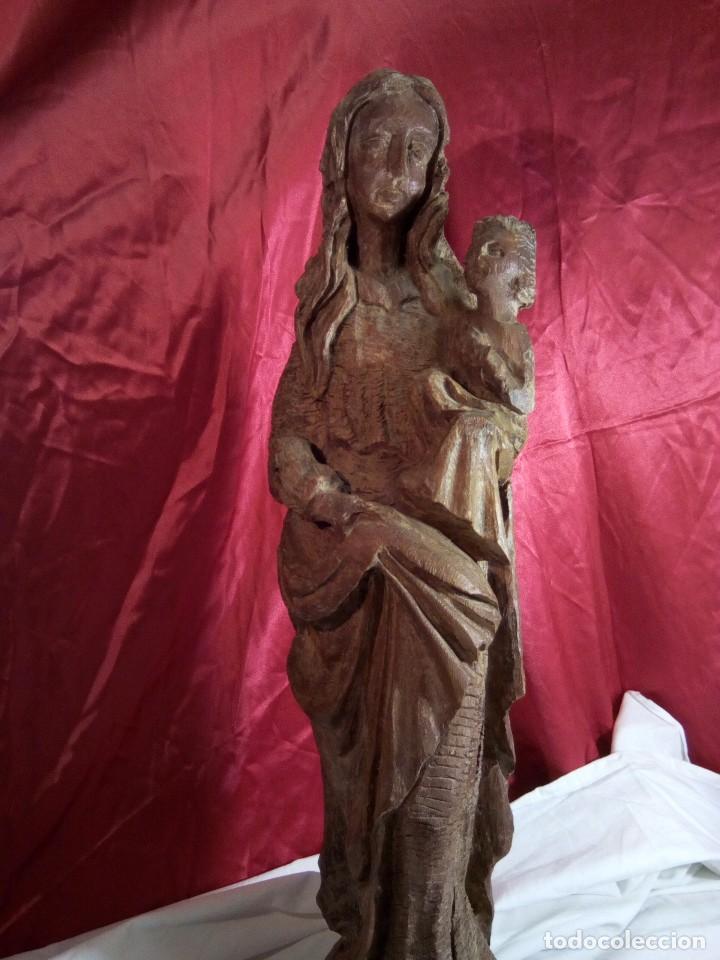 Arte: Escultura, virgen con niño , talla de madera - Foto 4 - 81580772